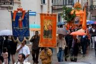 Portocannone_Il quadro della Madonna di Costantinopoli portato in processione