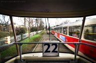 Il tram 22, che dalla Città Nuova porta al Castello