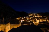 Panorama notturno del borgo