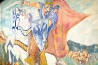 Un murale in piazza racconta l'origine albanese del paese