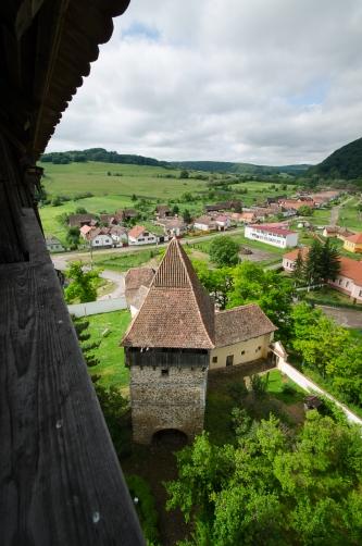 Apold, chiesa protestante fortificata, nel villaggio sassone (Tedeschi insediati durante il Medioevo)